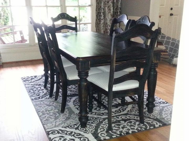 Oak Dining Room Set Makeover Hometalk