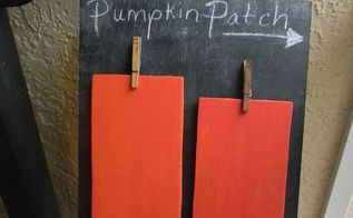 chalkboard and pumpkins, chalk paint, chalkboard paint, crafts, My cute pumpkin patch on a chalkboard
