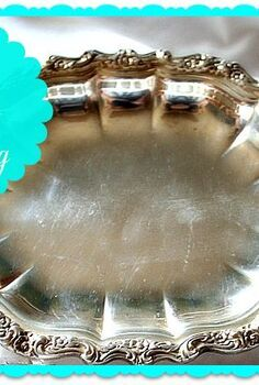 clean your silver without polishing, cleaning tips, Silver tray after cleaning