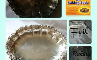 clean your silver without polishing, cleaning tips, Silver Cleaning Collage