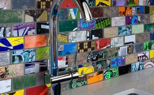 tiles made out of beat up old skateboards, repurposing upcycling, tiling