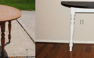 entry table before and after, home decor, painted furniture, My new entry table Check out the How I did it