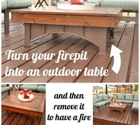 Fire Pit Table Top, Decks, Outdoor Furniture, Outdoor Living, Painted  Furniture,