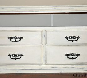 dresser turned tv stand painted furniture repurposing upcycling i removed the drawers and
