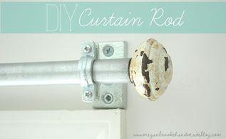diy curtain rod, doors, home decor, window treatments