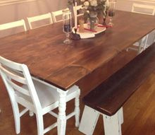farmhouse dining room table, dining room ideas, painted furniture