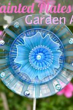 glass flower garden art, crafts, flowers, gardening, repurposing upcycling