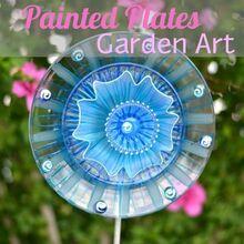 glass flower garden art, crafts, flowers, gardening, repurposing upcycling