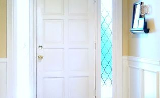 diy faux wainscoting, foyer, home decor, woodworking projects, DIY Faux Wainscoting