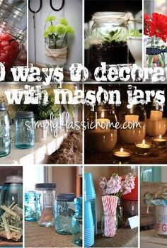 mason jar inspiration, crafts, home decor, mason jars