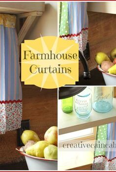farmhouse kitchen window update, home decor, Farmhouse Kitchen Curtains