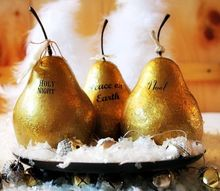 faux gilded pears, crafts