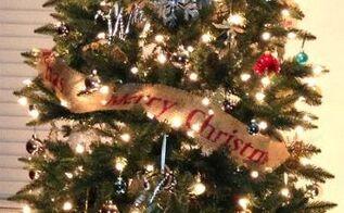 diy burlap christmas tree garland, christmas decorations, crafts, seasonal holiday decor