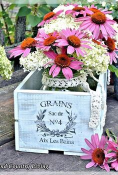 french crate project, flowers, gardening, The base layer of Annie Sloan Chalk Paint is Louis Blue