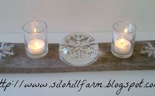pallet board candlescape, pallet, seasonal holiday d cor