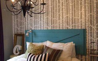 birch forest bedroom decorating transformation, bedroom ideas, painting, Birch Forest Bedroom