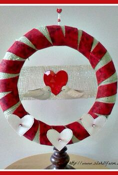 valentine wreath, crafts, seasonal holiday decor, valentines day ideas, wreaths