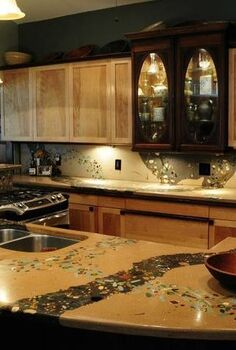 artisinal concrete countertops, concrete masonry, concrete countertops, countertops, kitchen design, Concrete countertop by Bud Gilbert