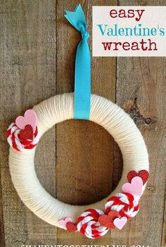 valentine s wreath with pipe cleaner rosettes, crafts, seasonal holiday decor, valentines day ideas, wreaths