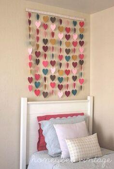 honeybee vintage diy paper heart wall art, crafts