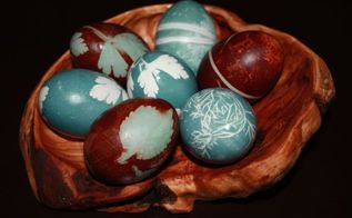 how to dye eggs and give them beautiful relief patterns with herbs, crafts, diy, easter decorations, seasonal holiday decor, I love how they turned out