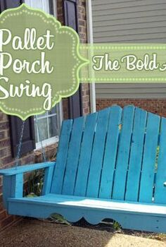 nantucket inspired porch swing made from reclaimed pallets, outdoor living, pallet, porches, Pallet Porch Swing created from an ordinary swing plan with just a few customizations