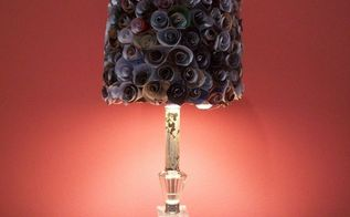recycling old magazines into lovely lamp shades, crafts, This lampshade was from made from coiled up pieces of pages from old magazines