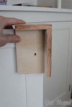 make a simple jig for installing cabinet door hardware, kitchen cabinets, woodworking projects
