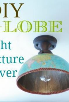 thrifty diy shade replacement using a globe, diy, how to, lighting, repurposing upcycling, DIY globe light fixture cover