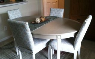 french cottage dining table makeover with nailhead trim details, painted furniture