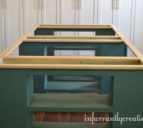 Large Craft Table, Diy, Painted Furniture, Woodworking Projects