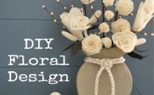 diy floral arrangement, crafts, home decor