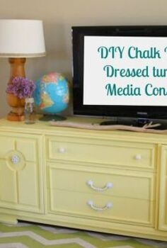 diy chalk painted dresser turned media cabinet, chalk paint, painted furniture