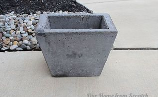 diy concrete planter, concrete masonry, diy, gardening, how to