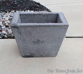 diy concrete planter concrete masonry diy gardening how to