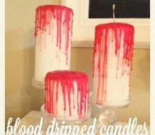 zombie themed wedding decor, crafts, Blood Dripped Candles for the guest tables