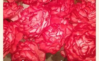 coffee filter flowers, crafts, Dusted Red Trim These flowers were originally made for a Zombie Themed Wedding These flowers will be used in hurricane vases on the guest tables