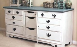 diy coastal cottage dresser makeover, home decor, painted furniture