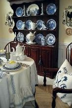 my favorite room my french country dining room, dining room ideas, home decor, I love my Welsh dresser It sets such a pretty backdrop for my collection of Spode Blue Room plates and my Red Cliff ironstone collection