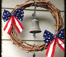 dollar store 4th of july wreath, crafts, seasonal holiday decor, wreaths