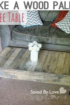 upcycled diy wood pallet coffee table, diy, how to, painted furniture, pallet, repurposing upcycling, woodworking projects, Reclaimed wood coffee table with casters by