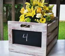 diy wood chalkboard crates, chalkboard paint, crafts, gardening, outdoor living, painting, repurposing upcycling