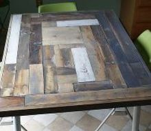 reclaimed wood table top resurface diy, diy, painted furniture, repurposing upcycling, woodworking projects