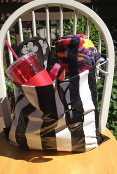 diy beach bag using duct tape and a garbage bag, crafts, Finished Where s the beach