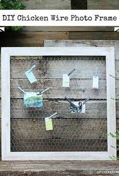 diy chicken wire photo frame, chalkboard paint, crafts, repurposing upcycling, DIY Chicken Wire Photo Frame