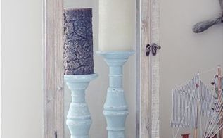 diy distressed pillar candle holders, crafts, seasonal holiday decor