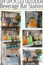 diy upcycled outdoor beverage station, repurposing upcycling