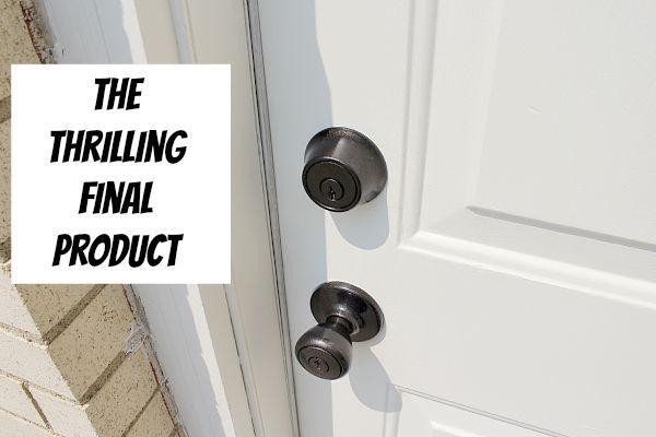easy way to refinish door hardware doors. Black Bedroom Furniture Sets. Home Design Ideas