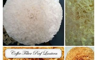 paper lanterns coffee filters heavenly, crafts, Coffee Filter Pouf Lantern