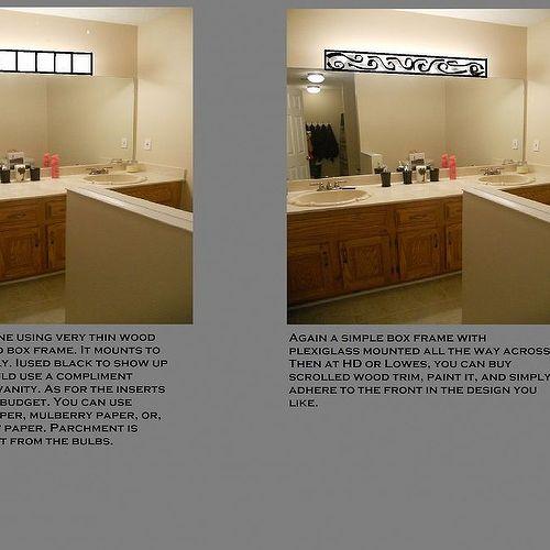 Bathroom Light Fixtures Covers light fixture upgrade on a budget | hometalk